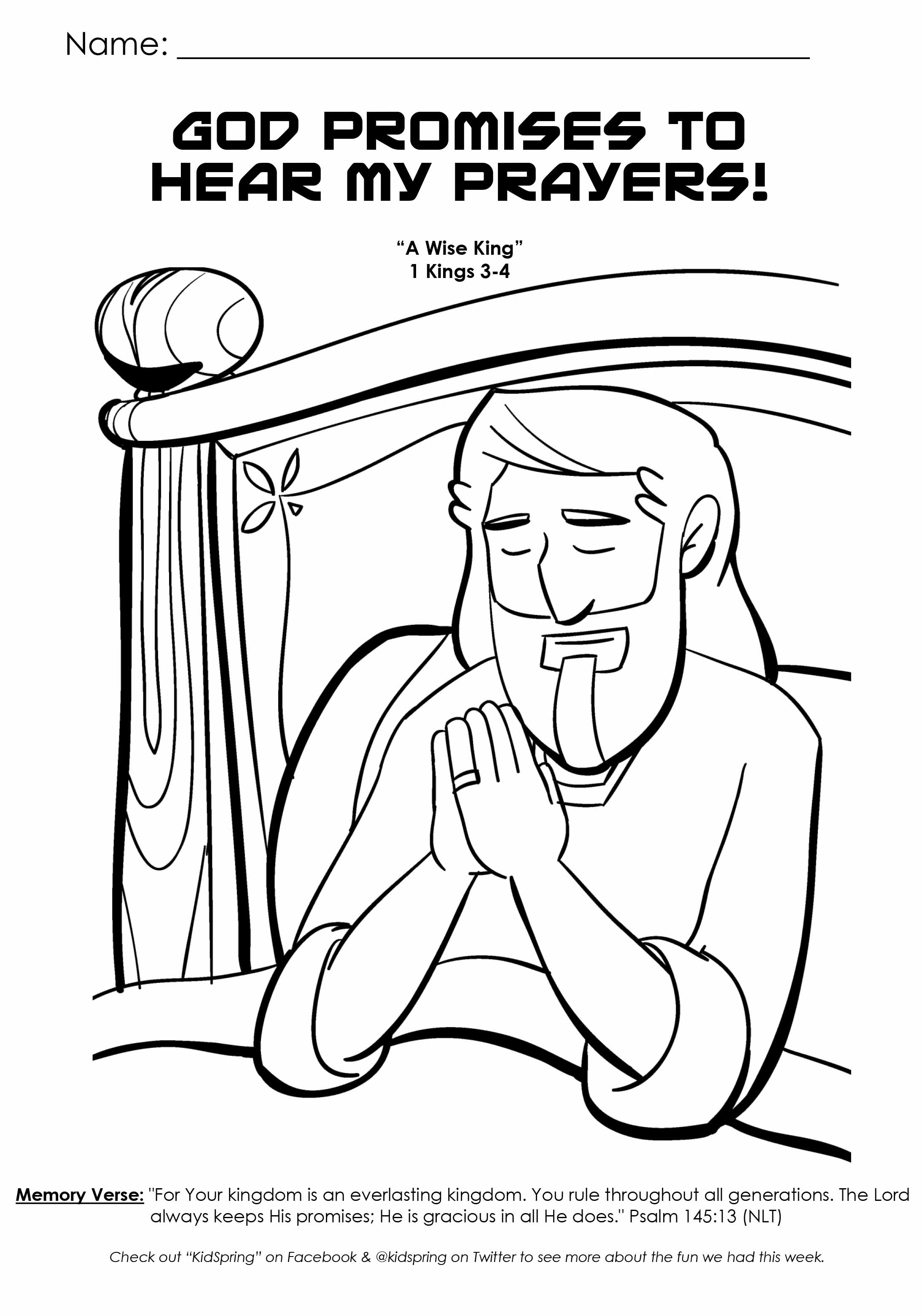 God hears our prayers coloring pages ~ number sheet school activity